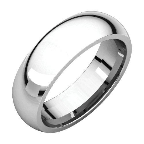 Palladium 6mm Comfort Fit Band, Ring Size 10