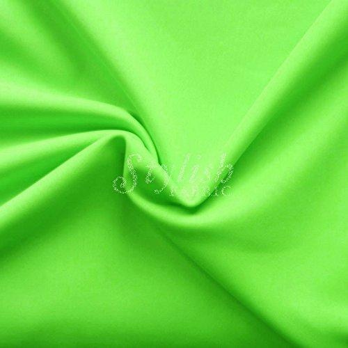 Neon Lime Green Matte Tricot Knit Fabric for Swimwear Activewear Sportswear -1 Yard ()