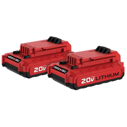porter-cable pcc680lp 20 V MAX 1.5 AHリチウムイオンバッテリー(2 Pack)  B07FJMVV7M