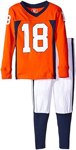 Wes and Willy Boys' Little Slim O W Long Sleeve Pajama, Orange Crush, ()