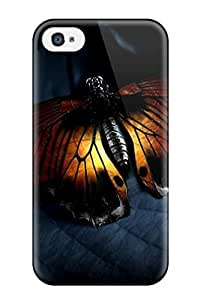 Awesome Design Orange Butterfly Beautiful Blue Leaf Animal Other Hard Case Cover For Iphone 4/4s