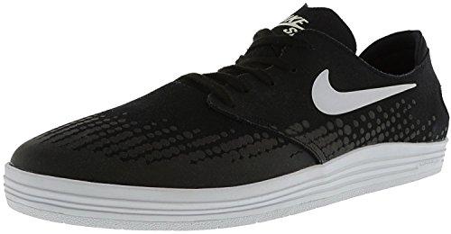 Shot Black And White (NIKE Men's Lunar Oneshot Black/White Ankle-High Skateboarding Shoe - 12M)