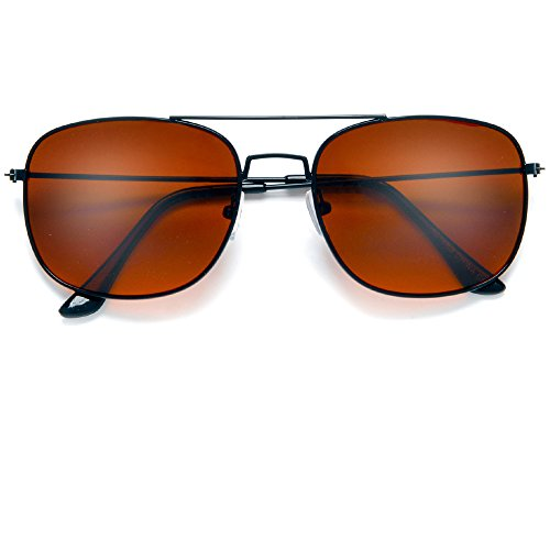 81f5916bb3a Blue Blocking Driving Square Aviator Sunglasses with Amber Tinted Lenses to  Block Out Blue Ray (Blue Block) - Buy Online in Oman.