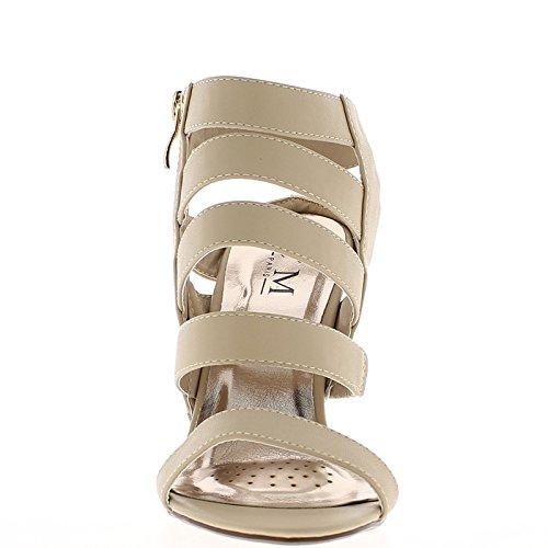 Sandalias beige fin bridas finas y tacón de 10.5 cm