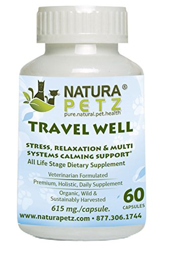 Natura Petz Organics Travel Well Calming and Stress Supplements for Dogs and Cats by Natura Petz Organics
