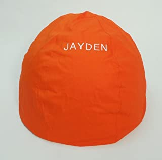 product image for Bean Bag Chair Adult Size Large Personalized Embroidered Comfy Bean - Orange