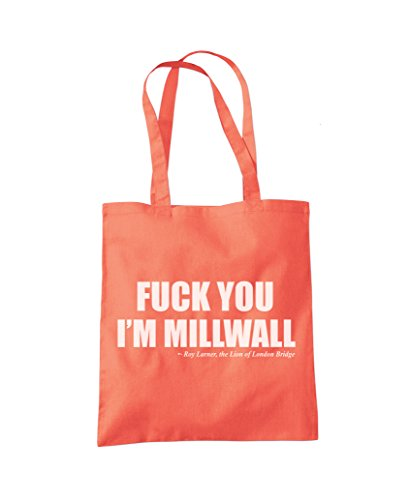 Shopper Football I'm F Millwall Tote ck Fan You Fashion Coral Bag wqSI7f07