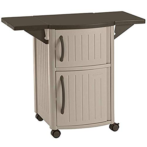 Decorative Prep Drop - Storage Cabinet Storage Box Portable Prep Station with Drop Leaf Extensions and A Decorative Design Function Waterproof and Corrosion-Resistant 626 (Color : Gray)