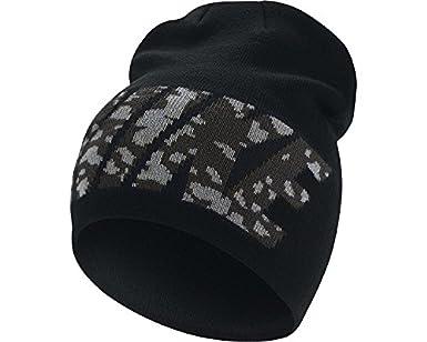Nike Hombres de Camuflaje Logo Gorro Negro/Gris frío OS 688768 011: Amazon.es: Amazon.es