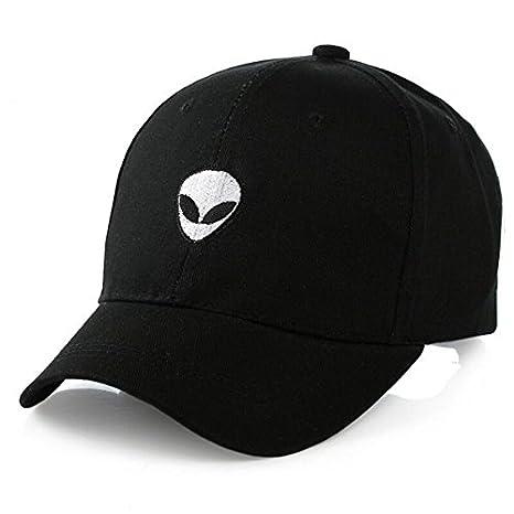 e117ecbbb21 Hatrita-J UFO Fans Embroidery Black Snapback Summer Baseball Cap Hip Hop  Caps For Ladies