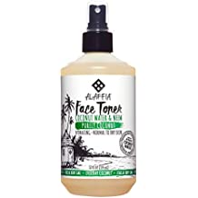 Alaffia - Purely Coconut Face Toner, Normal to Dry Skin, Refreshing Help to Hydrate and Balance Skin with Neem, Papaya, and Lavender Oil, Fair Trade, Coconut Water and Neem, 12 Ounces (FFP)