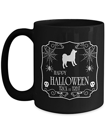 Happy Halloween Trick Or Treat Samoyed Mug coffee, Funny Halloween October 31 - Gift lover dog, Best dog ever, Best dad, mom, friends. for $<!--$19.95-->