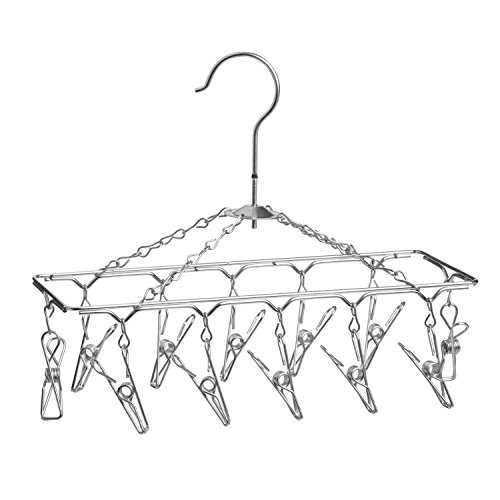 Lingerie Rack (Honey-Can-Do DRY-01102 Clothes Drying Hanger Rack with 12 Clips,)