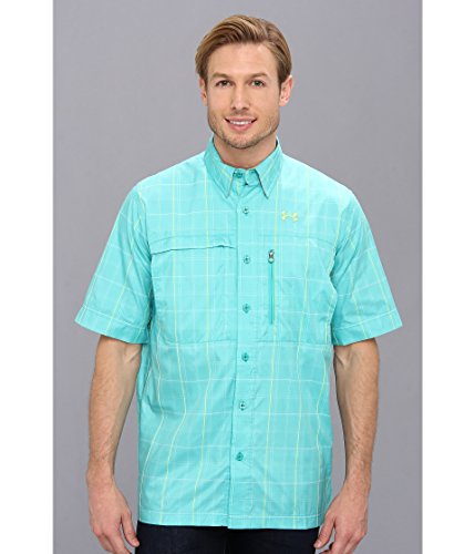 Under Armour Men's UA Flats Guide Plaid Short Sleeve Shirt Small ()