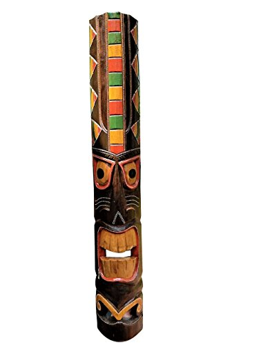 All Seas Imports 39.5'' Handcarved Natural Style Wood Tiki Mask With Beautiful Color! by All Seas Imports