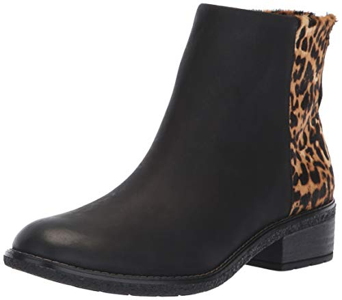 (SPERRY Women's Maya Belle Ankle Boot, Black/Leopard, 8.5 M US)