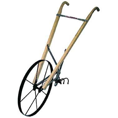 Earthway 6500W High Wheel Garden Cultivator with 24-Inch Steel Wheel and Wood Handle