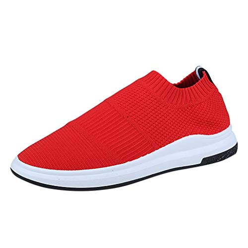 zitan Mens Casual Athletic Sneakers Knit Running Shoes Tennis Shoe for Men Walking Baseball Jogging Red