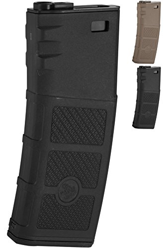 (Evike G&P High RPS 360rd Polymer HI-CAP Magazine for M4 M16 Airsoft AEG Rifles - Black -)