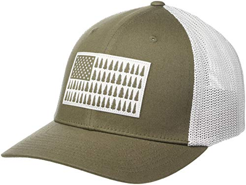 Columbia Men's Mesh Tree Flag Ball Cap, Peatmoss, Small/Medium ()