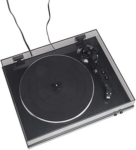 Denon DP-300F Fully Automatic Analog Turntable with Built-in Phono Equalizer   Unique Tonearm Design   Hologram Vibration Analysis   Slim Design