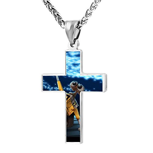 Funny Patriotic Cross Robot Religious Lord's Zinc Jewelry Pendant Necklace by Kenlove87