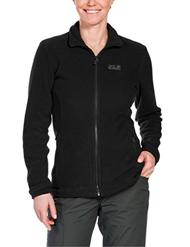 Jack Wolfskin Damen Fleecejacke Midnight Moon, Black, S, 1702261-6000002