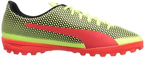 Puma Heren Spirit Turf Trainer Voetbalschoen Koolzuurhoudend Geel-rood Blaaspoema Zwart