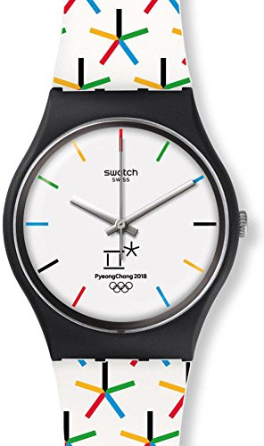Swatch Originals Star Games White Dial Silicone Strap Ladies Watch GZ317