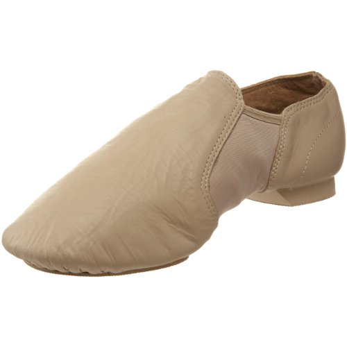 SANSHA Charlotte Leather Slip-On Jazz Shoe,Cappuccino,8 M US Women's/4 M US Men's