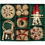 Christmas Straw Ornaments - Set of 29 pieces