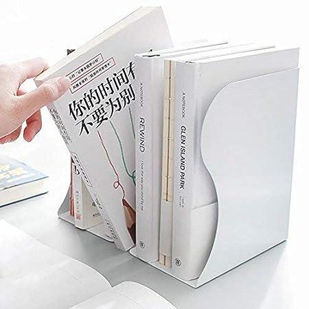 /expositor vertical de mesa estanter/ía en metal blanco negro gris Vogue Chic oficina casa Soporte para libros ajustable al escritorio/ color blanco