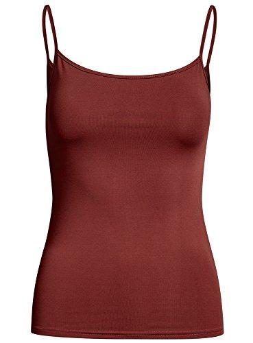 oodji Ultra Mujer Camiseta de Tirantes Básica Rojo (4900N)