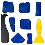 Godagoda Silicon Sealant Tool Caulking Tool Kit Finishing Tool for Kitchen Bathroom Shower(Blue,Red)