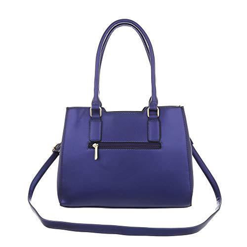 para Ital Oscuro de Design hombro Bolso Azul mujer al Sintético YvqRY