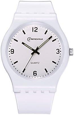 [子]クオーツ腕時計、学生レジャー防水時計ラウンドゴムピンバックルstrap-l