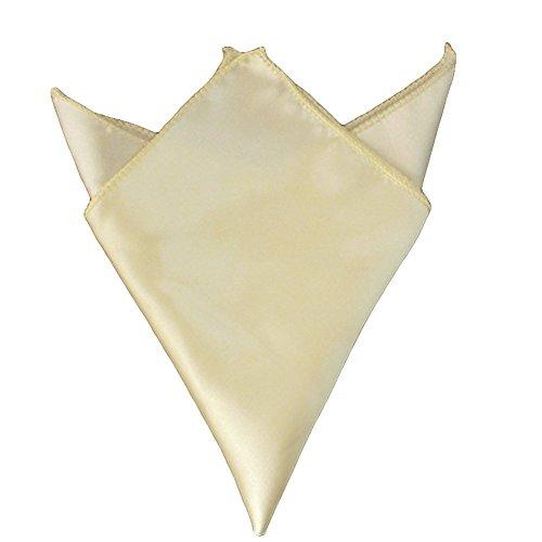 "MDS 150 Wedding 12""X 12"" Square Satin Napkin or Handkerchief For Wedding Banquet Decoration - Ivory"