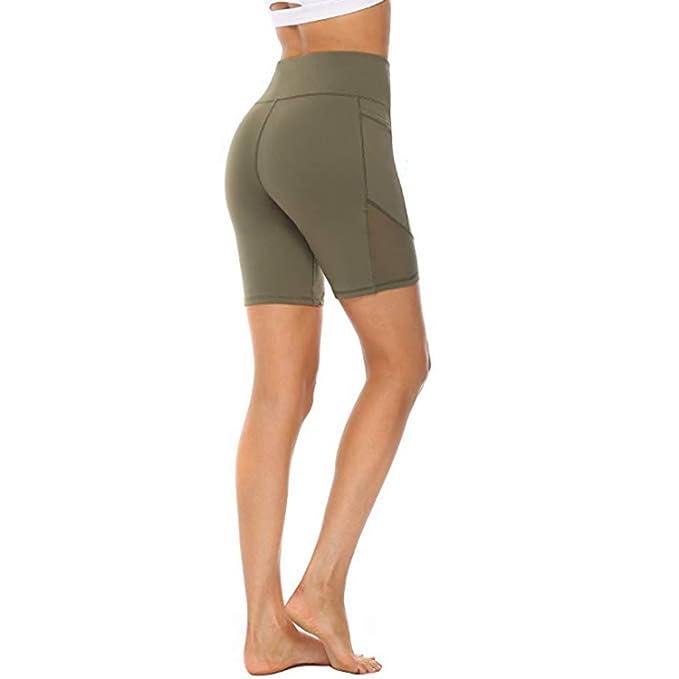 Amazon.com: Xinantime Women High Waist Yoga Short Pant ...