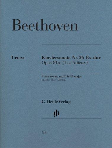 Sonate 26 Es-Dur Op 81a (les Adieux). Klavier