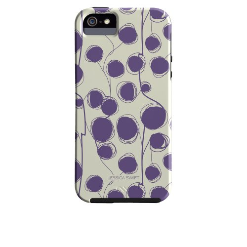 Case-Mate Jessica Swift Designer Print Case for iPhone 5/5s - Anka Violet - Retail Packaging - White