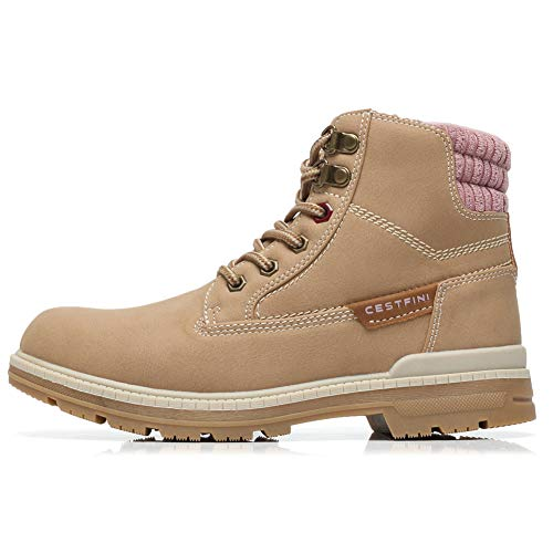Cestfini Combat Work Hiking Boots for Women Suede Lace Up Winter Boots, with Comfortable Insole and  - http://coolthings.us