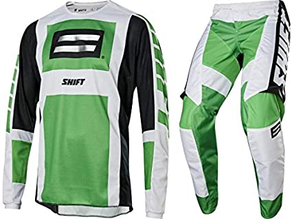 Shift MX Racing Whit3 Label Archival SE Green Fro Daddy Jersey /& Pant Combo Set Motocross ATV 2X // 40