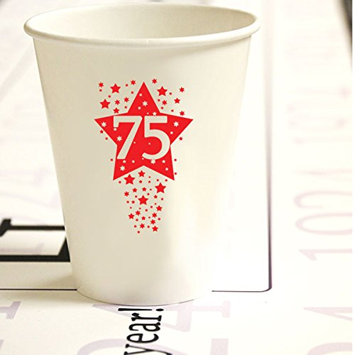 75th Birthday Paper Cups