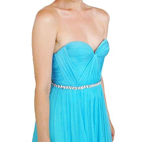 linie Chiffon Abendkleider Festkleider Ballkleid Hellgrün Damen A Silk Lang Elegant LuckyShe wYgTzUIqx