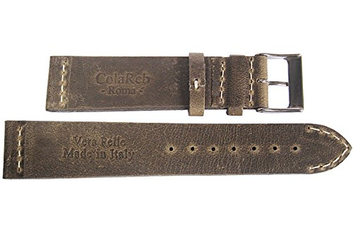 ColaReb 18mm Venezia Short Mud Leather Watch Strap by ColaReb (Image #2)