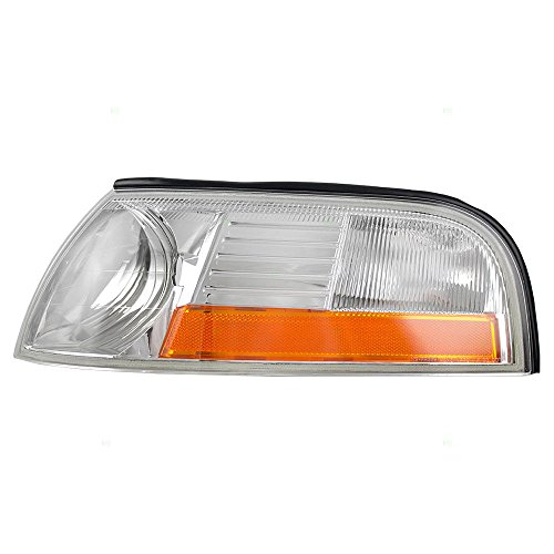 DAT AUTO PARTS Parking Signal Side Marker Light Corner LAMP Lens and HOUSING Replacement for 03-05 Mercury Grand Marquis Except Marauder Front Corner of Fender Left Driver Side FO2520171