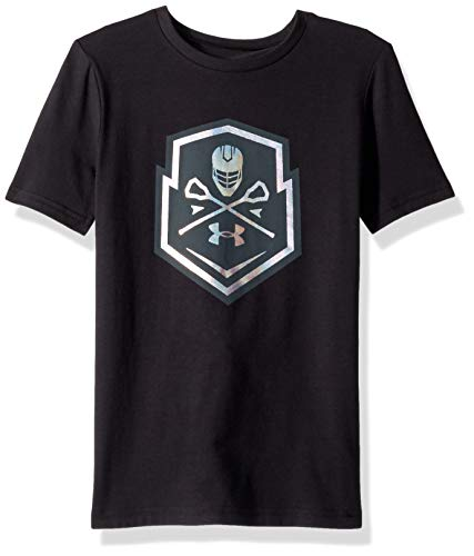 Under Armour Boys Lax Graphic 1, Black (001)/Iridescent Foil, Youth X-Large
