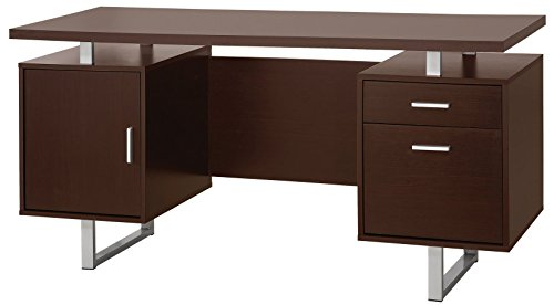 coaster 801521 home furnishings desk, cappuccino