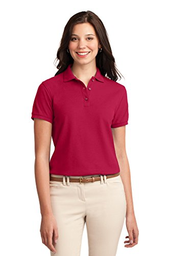 port-authority-womens-silk-touch-polo-xl-red