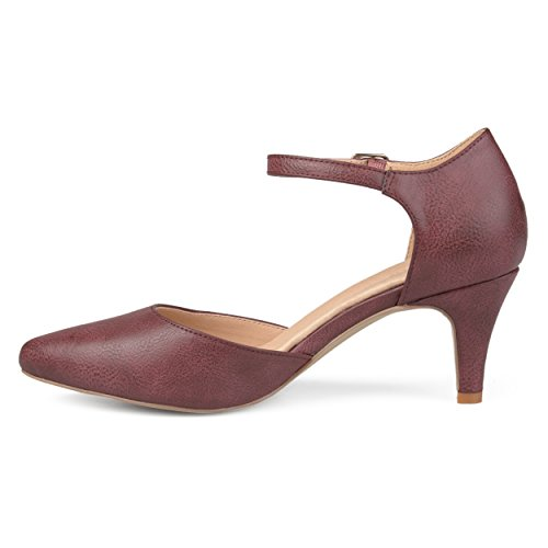 Brinley Co Donna In Ecopelle Comfort Suola Con Cinturino Alla Caviglia Con Cinturino Alla Caviglia